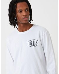 Deus Ex Machina - White Long Sleeve Venice La T-shirt for Men - Lyst
