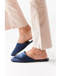 Urban Outfitters - Blue Uo Satin Mule - Lyst