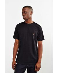 Urban Outfitters - Black Embroidered Rose T-shirt - Mens S for Men - Lyst