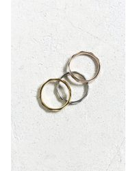 Urban Outfitters - Metallic Tritone Ring - Lyst