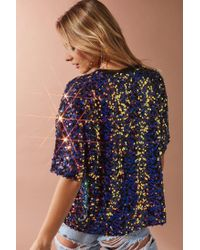 Urban Outfitters - Blue Uo Vega Sequin Party Tee - Lyst