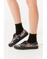 d91ebfc55e6 Lyst - Vans Vans Floral Velvet Authentic Sneaker in Black
