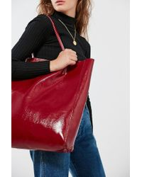 Urban Outfitters | Red Patent Faux Leather Tote Bag | Lyst