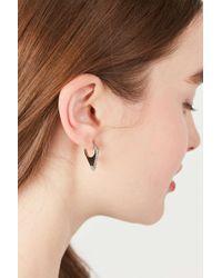 Urban Outfitters - Metallic Triangle Huggie Hoop Earring - Lyst
