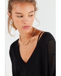 Urban Outfitters - Metallic Chunky Figaro Chain Necklace - Lyst
