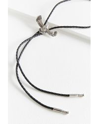 Urban Outfitters - Gray Braided Bolo Tie Necklace - Lyst