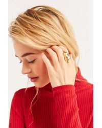 Urban Outfitters - Metallic Curved Statement Ring - Lyst