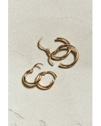Urban Outfitters - Metallic Uo Gold Loop Earring 4-pack - Lyst