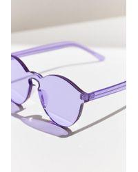 Urban Outfitters | Purple Translucent Monocut Round Sunglasses | Lyst