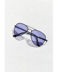 Urban Outfitters - Black Purple Knoxville Aviator Sunglasses - Lyst