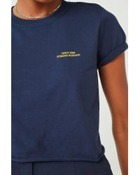 Urban Outfitters - Blue Urban Outfitters Only The Strong Cropped T-shirt - Lyst