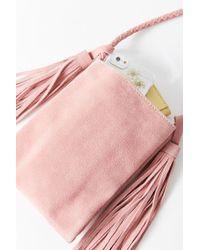 Urban Outfitters - Pink Tassel Fringe Mini Crossbody Bag - Lyst