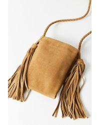 Urban Outfitters - Green Tassel Fringe Mini Crossbody Bag - Lyst