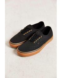 black vans gum sole