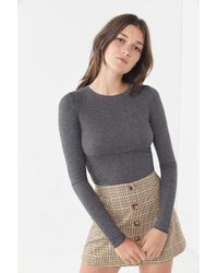 Out From Under - Gray Karmen Pointelle Top - Lyst