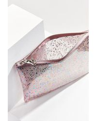 Urban Outfitters - Pink Glitter Pouch - Lyst