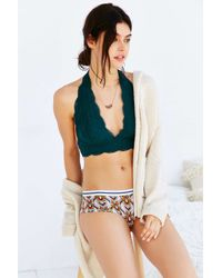 Out From Under | Green Lace Halter Bra | Lyst