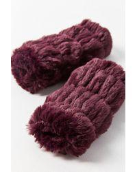 Urban Outfitters - Purple Faux Fur Fingerless Glove - Lyst