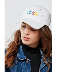 Urban Outfitters - White Cbs Baseball Hat - Lyst