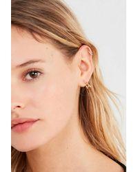Urban Outfitters - Metallic Star Huggie Hoop Earring - Lyst