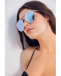 Quay - Metallic X Jasmine Sanders Indio Metal Sunglasses - Lyst