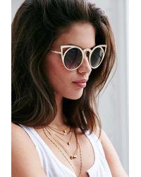 Quay - Metallic Invader Sunglasses - Lyst