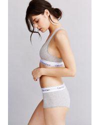 Calvin Klein - Gray Modern Cotton Racerback Bralette - Lyst