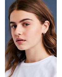 Urban Outfitters | Metallic Simple Hoop Earring | Lyst