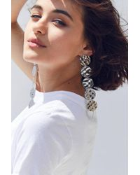 Urban Outfitters | Metallic Ari Hammered Disc Drop Earring | Lyst