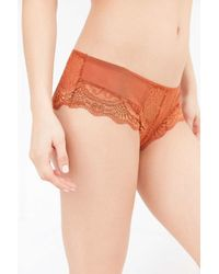 Out From Under - Orange Elizabeth Lace Mix Hipster - Lyst