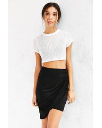 Truly Madly Deeply | Black Twist-front Midi Skirt | Lyst