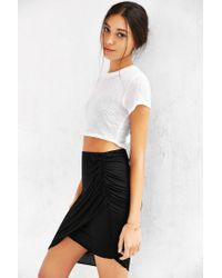 Truly Madly Deeply - Black Twist-front Midi Skirt - Lyst