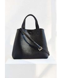 Urban Outfitters | Black Mini Reversible Vegan Leather Tote Bag | Lyst