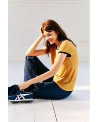 Project Social T - Yellow Molly Ringer Tee - Lyst