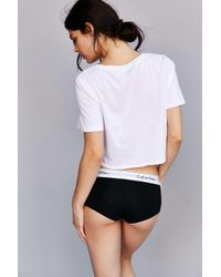 Calvin Klein | White For Uo Modern Cropped Tee | Lyst