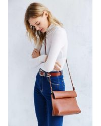 Silence + Noise | Brown Roll Clutch Crossbody Bag | Lyst