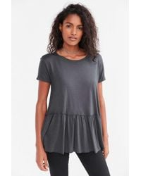 Truly Madly Deeply | Black Dusty Road Peplum Tee Dress | Lyst