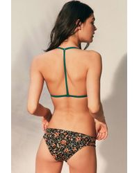Out From Under - Green Solid Triangle Racerback Bikini Top - Lyst