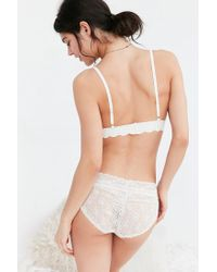 Out From Under - White Ayden Scallop Triangle Bra - Lyst