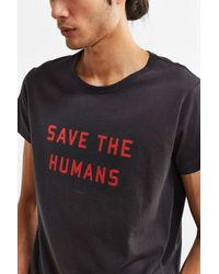 Thinking Mu | Gray Save The Humans Tee for Men | Lyst