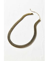 Urban Outfitters - Metallic Lincoln Chain Choker Necklace - Lyst