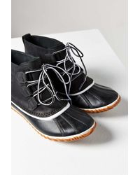 Sorel | Black Out N About Leather Boot | Lyst