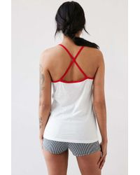 Camp Collection - White Babe Ringer Cami - Lyst