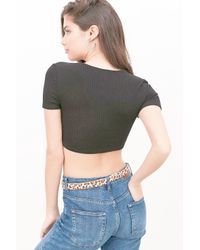 Project Social T - Green Camilla Cropped Tee - Lyst