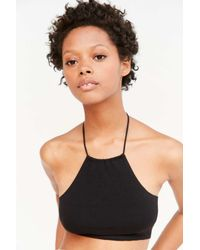 Out From Under | Black Strappy Back Halter Bra | Lyst