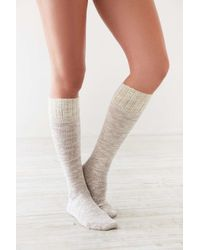 Urban Outfitters | Multicolor Crochet Cuff Slouchy Sock | Lyst