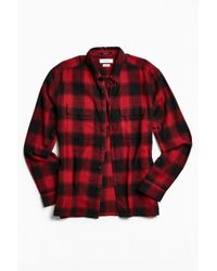 Urban Outfitters | Red Uo Buffalo Shadow Plaid Flannel Button-down Shirt for Men | Lyst