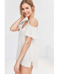 Project Social T - White Liza Cold Shoulder Tee - Lyst