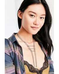 Urban Outfitters - Metallic Eva Bar + Chain Statement Necklace - Lyst