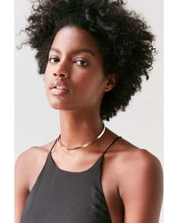 Urban Outfitters - Metallic Harlow Pendant Choker Necklace - Lyst